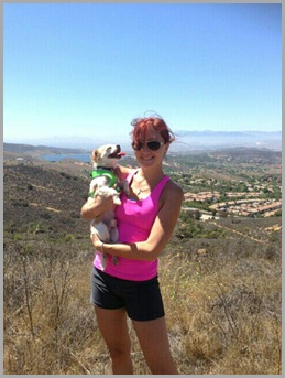 Me and Toby hiking